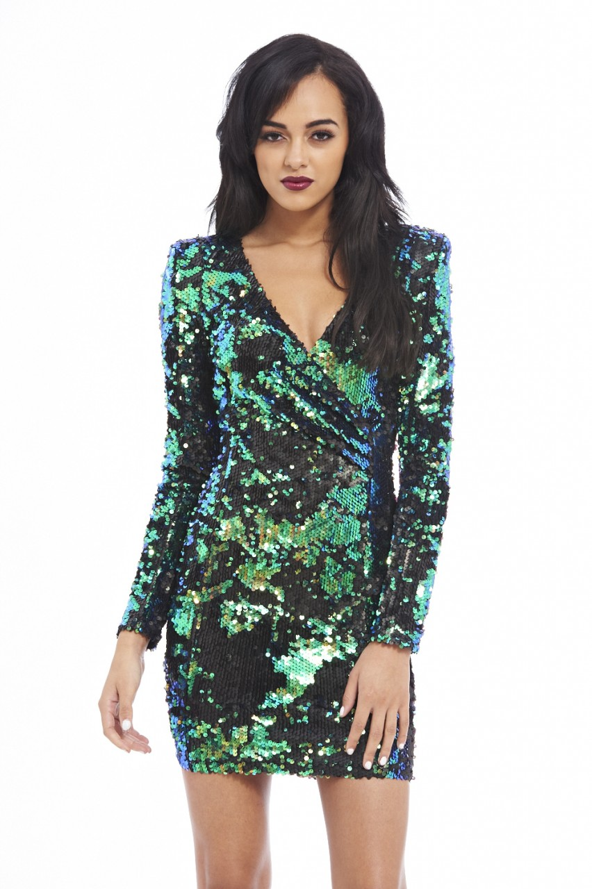 Ax Paris Sequin Bodycon Dress Outlet Choice Discount Classic rYdRmWFH