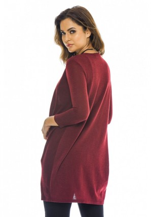 Women's Wrapped Front Knitted  Wine Top