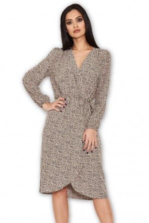 Women's Animal Print Wrap Style Dress