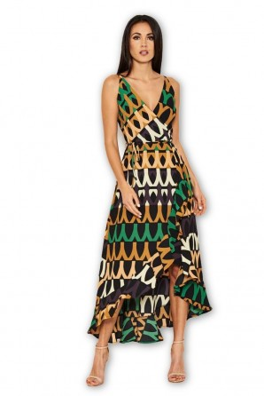 Women's Print Midi Tie Dress