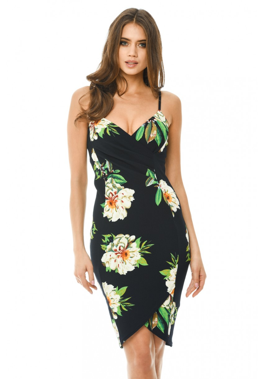 c6ed947e0f4b Floral Bodycon Midi Dress Ax Paris
