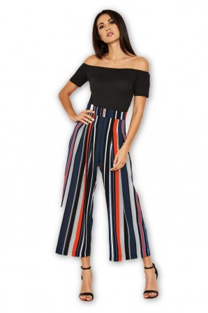 Women's Multi Coloured Off The Shoulder Jumpsuit