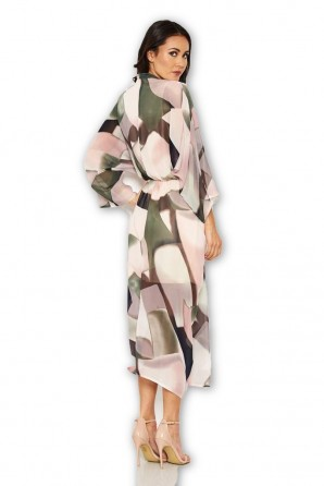 Women's Chiffon Long Sleeved Maxi Dress