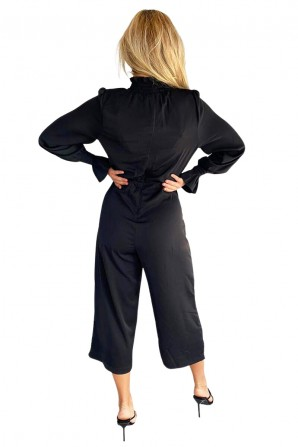 Women's Black High Neck Jumpsuit