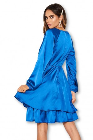 Women's Cobalt Satin Dress