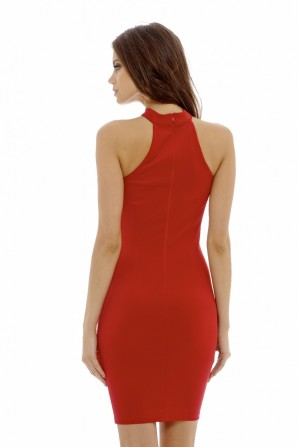 Women's Cut Out   Bodycon  Red Dress