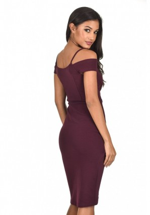 Women's Plum Wrap Around Dress