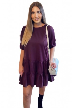 Women's Midi Swing Purple Dress