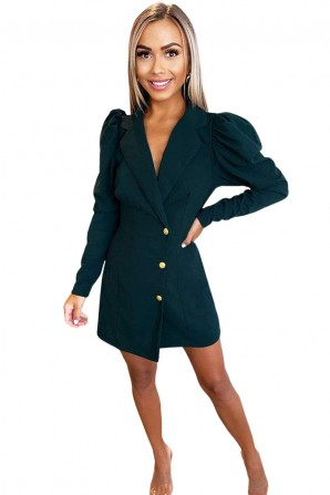 Women's Teal Blazer Dress