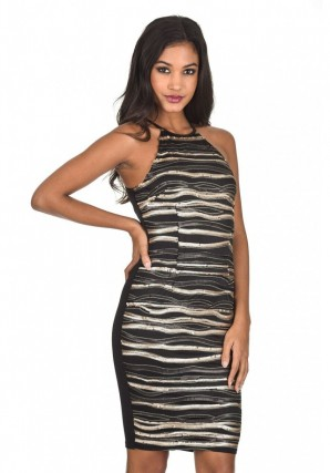 Women's Stripey Sequin Dress