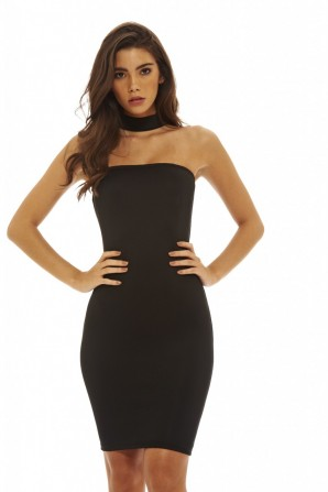 Women's Cut Out Bodycon  Black Dress