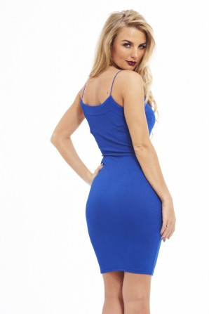 Women's Bodycon String Strapblue Dress