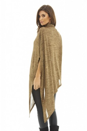 Women's Asymmetric Metallic Gold Top