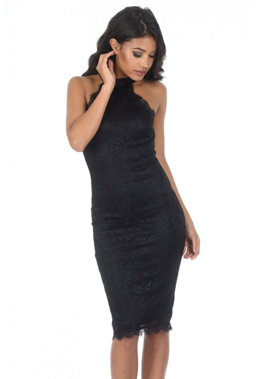 c8c444c28d8c ... Dresses on Sale; Women's Black Lace Midi Dress. Image 1. Image 2. Image  3. Image 4. Image 1