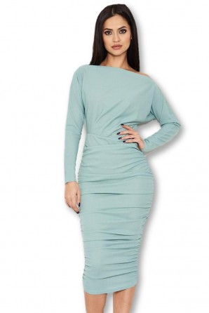 Women's Duck Egg Off Shoulder Ruched Dress