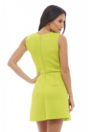 Women's Scuba Pleatedlime Dress
