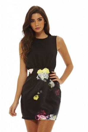 Women's 2 In 1 Floral Mini Dress