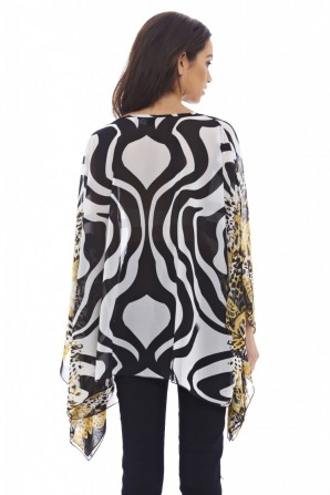 Women's Printed Batwing Top