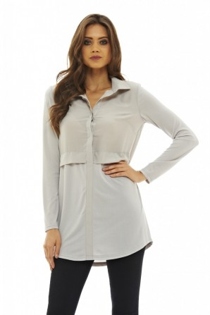 Women's Long Sleeved  Grey Top