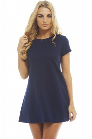 Women's Quilted Swingnavy Dress