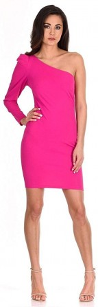 AX Paris Women's One Sleeve Bodycon Midi Dress