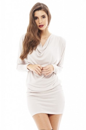 Women's Drape Open Split Arm Knitted Stone Dress