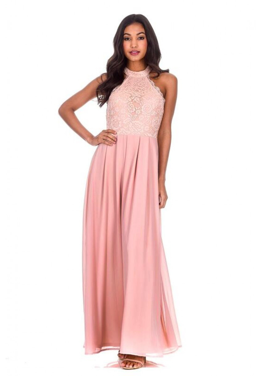 cec20638f2b6 Women s Nude Lace Detail Maxi Dress - AX Paris USA-Fashion Dresses ...