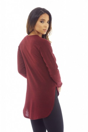 Women's Knitted  Wine Top